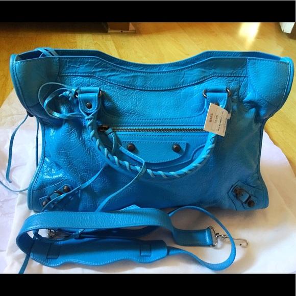 Balenciaga Handbags - NWT Balenciaga Classic City Lambskin Tote Bag Blue